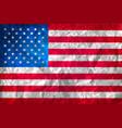 grunge american flag watercolor flag of usa vector image