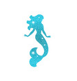 silhouette of mermaid with dust glitters vector image