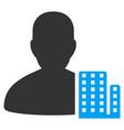 city architect flat icon vector image
