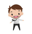 young smiling manager office life flat editable vector image