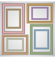 set of realistic plastic portrait frames on the vector image