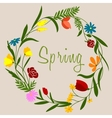 Spring flowers wreath for seasonal decoration vector image vector image