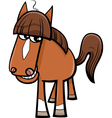 farm horse cartoon vector image