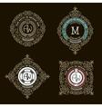 Monogram emblem template logo design vector image