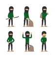 Criminal man Burglar and thief character vector image