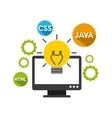 programming language design vector image