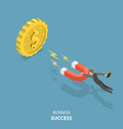 business success flat isometric low poly concept vector image