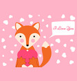 cartoon valentine day - funny cute vector image