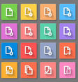 Documents icon set vector image