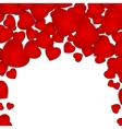 festive background with red hearts vector image