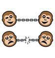 monkey symbols vector image