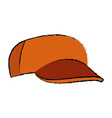 orange baseball cap sport accessory vector image