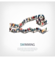 people sports swimming vector image