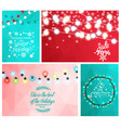winter sale set of posters with light garlands vector image