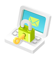 icon email vector image vector image