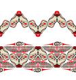 Haida style seamless pattern vector image vector image