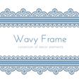 Wave border frame vector image