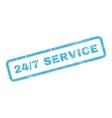 24 Slash 7 Service Text Rubber Stamp vector image