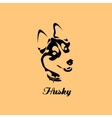 siberian husky with collar Black vector image