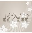 musical symbols vector image vector image