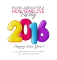 Invitation to New Year party with color numbers vector image
