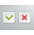No and Yes Computer keyboard buttons Icons vector image