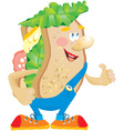 Sandwich cartoon vector image vector image