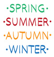 Spring summer autumn winter hand drawn vector image