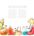 Watercolor autumn set vector image