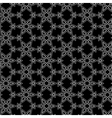 black and white arabic pattern vector image vector image