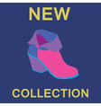 ankle boot vector image