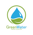 green water logo vector image