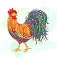 Hand drawn doodle outline rooster vector image