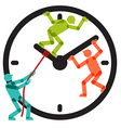 People Team Stopping Clock Arrows vector image