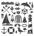 sea travel icon set vector image