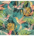 Seamless exotic pattern with abstract palm leaves vector image