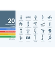 Set of orthopedics icons vector image
