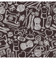 Seamless Pattern With Accessories For Sewing vector image