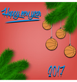 Basketball balls on Christmas tree branch vector image