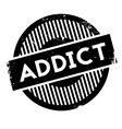 Addict rubber stamp vector image vector image