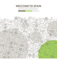 spain doodle website template design vector image