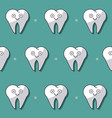 colorful background with pattern of teeth animated vector image