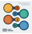metaball flat infographic 3 vector image