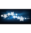 blue snowflake Christmas background vector image
