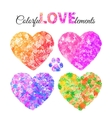 Abstract watercolor heart vector image