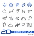 Food Icons Outline Series vector image vector image