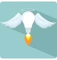 Icon lamp as emblem or logo vector image
