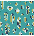 Crystal heart - seamless pattern vector image