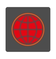 Worldwide Rounded Square Button vector image