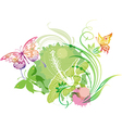 with a butterflies vector image vector image
